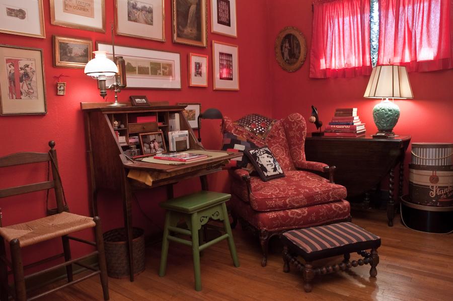 each little world: a room full of red