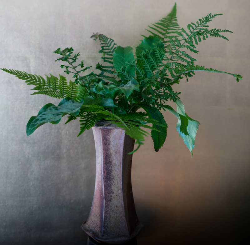 In a vase-5