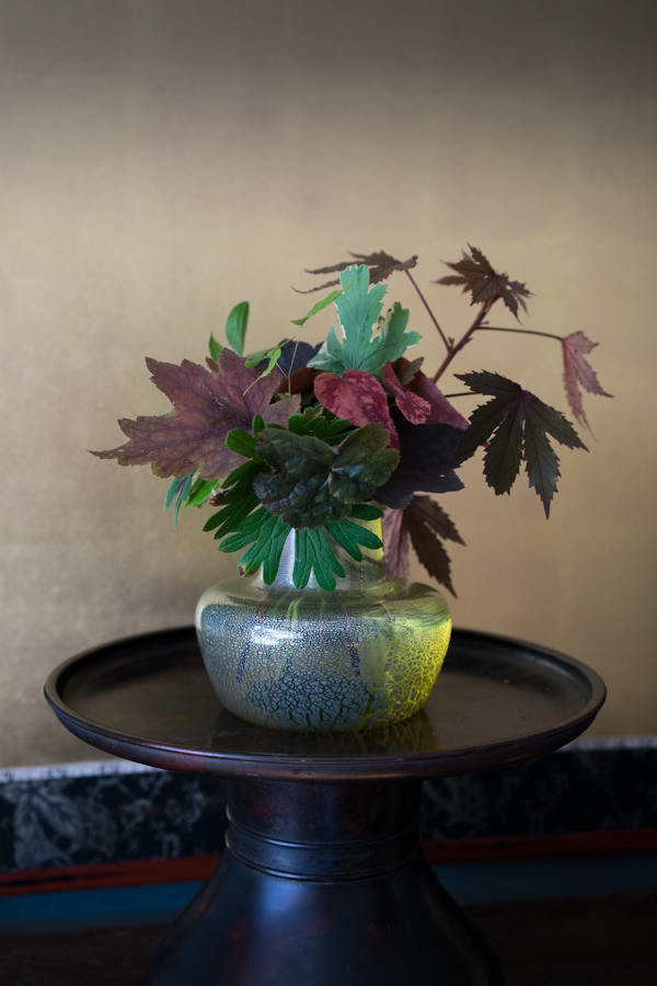 In a vase-3