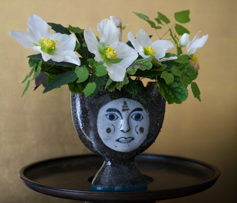 In a vase-6
