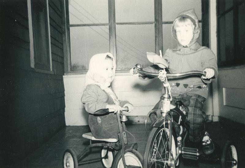 Bikes on porch